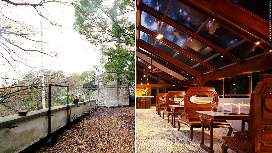 converted hotel before after tai o rooftop