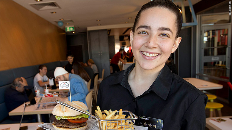 mcdonalds france table service