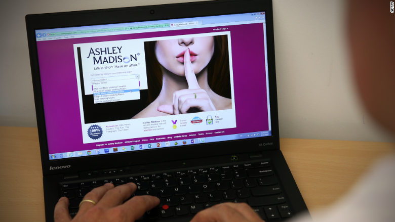 adultery site ashley madison targeted data hack