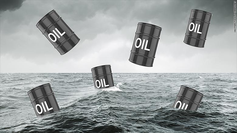 oil barrels falling