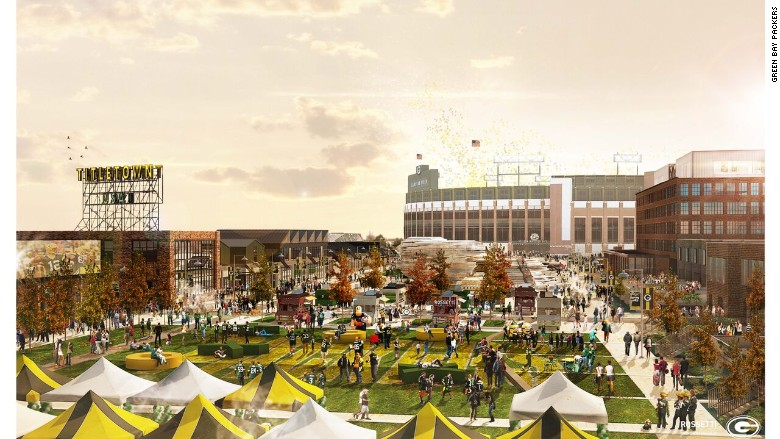 green bay packers titletown district