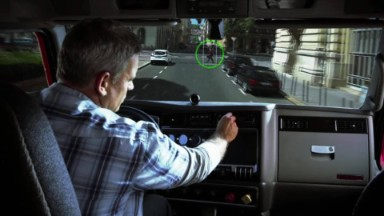 Riding in a self-driving car powered by Mobileye