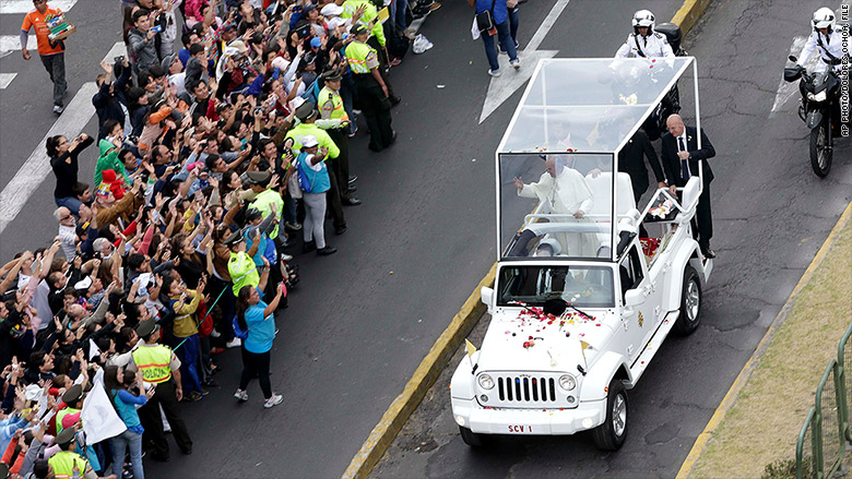 pope francis jeep