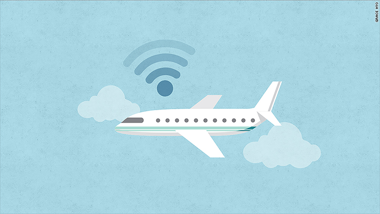 speed internet plane