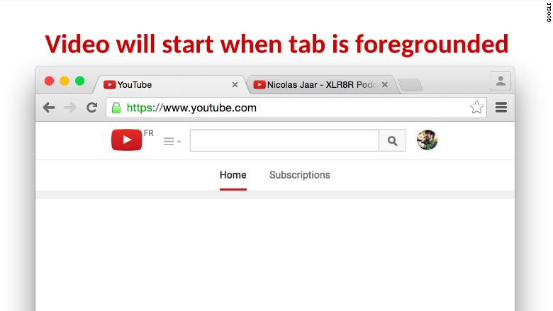 google chrome tab sound
