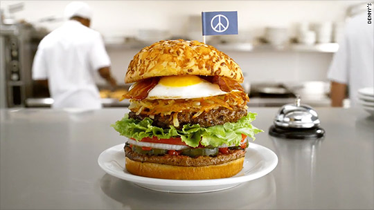Denny's cooks up 'peace burger' offer for Burger King
