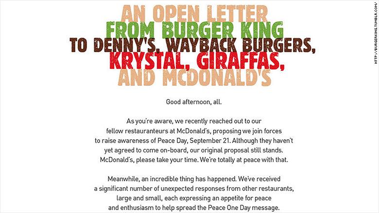 burger king letter