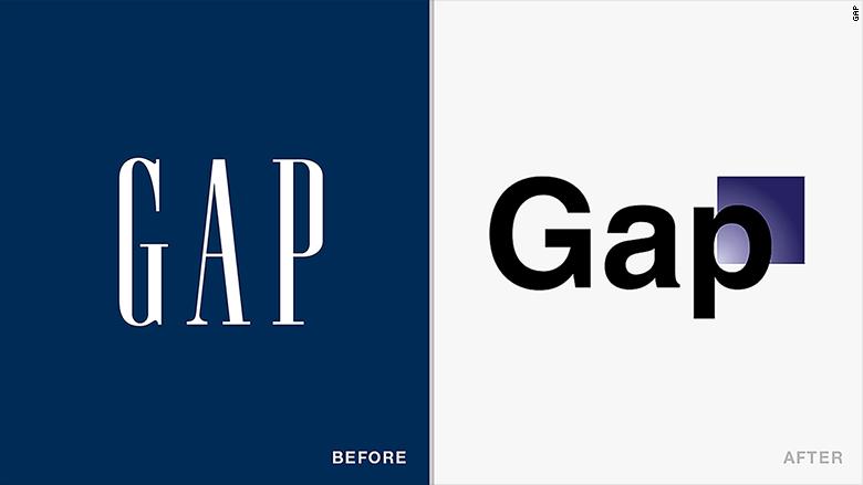 old new logos gap