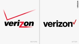 old new logos Verizon