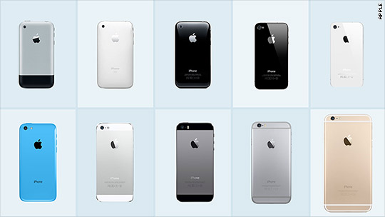 The iPhone through the years