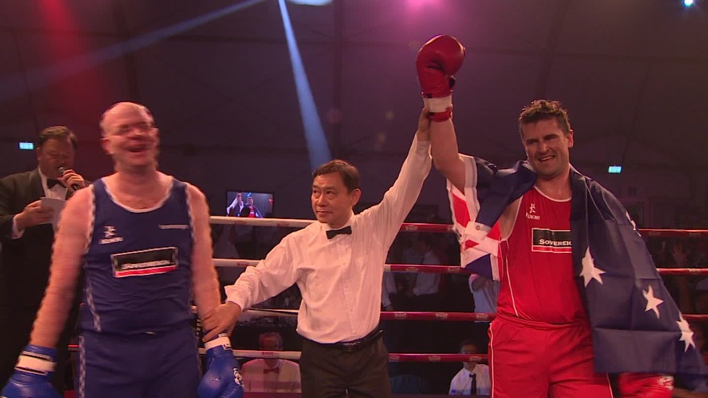 Why are bankers stepping into the boxing ring?