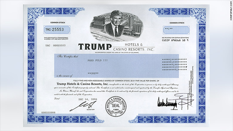 trump stock certificate