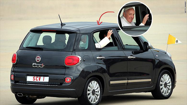 pope fiat 500L