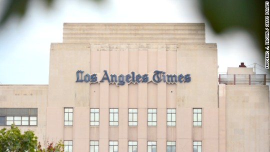 Murdoch tweets that LA Times about to be bought