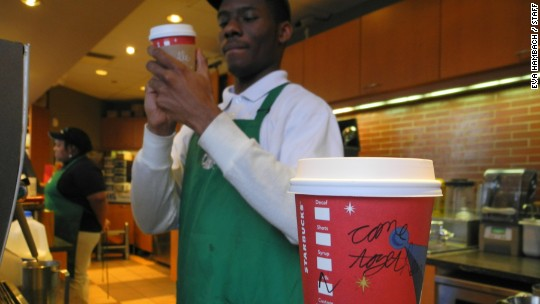 Starbucks delivers to Empire State Building ... and investors