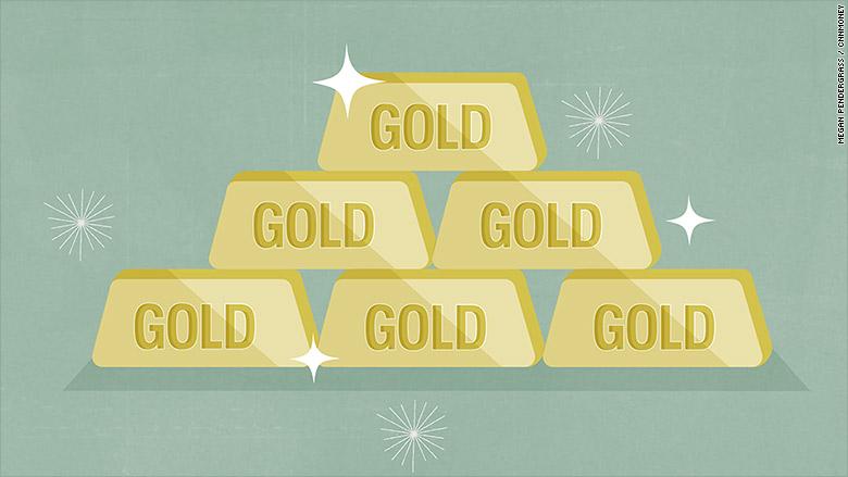 gold bars illustration
