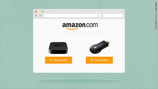 Amazon bans Apple TV, Google Chromecast