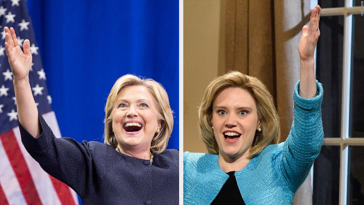 Hillary Clinton does Trump impression on 'SNL'