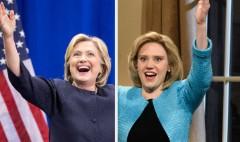 Clinton imitates Trump on 'SNL'