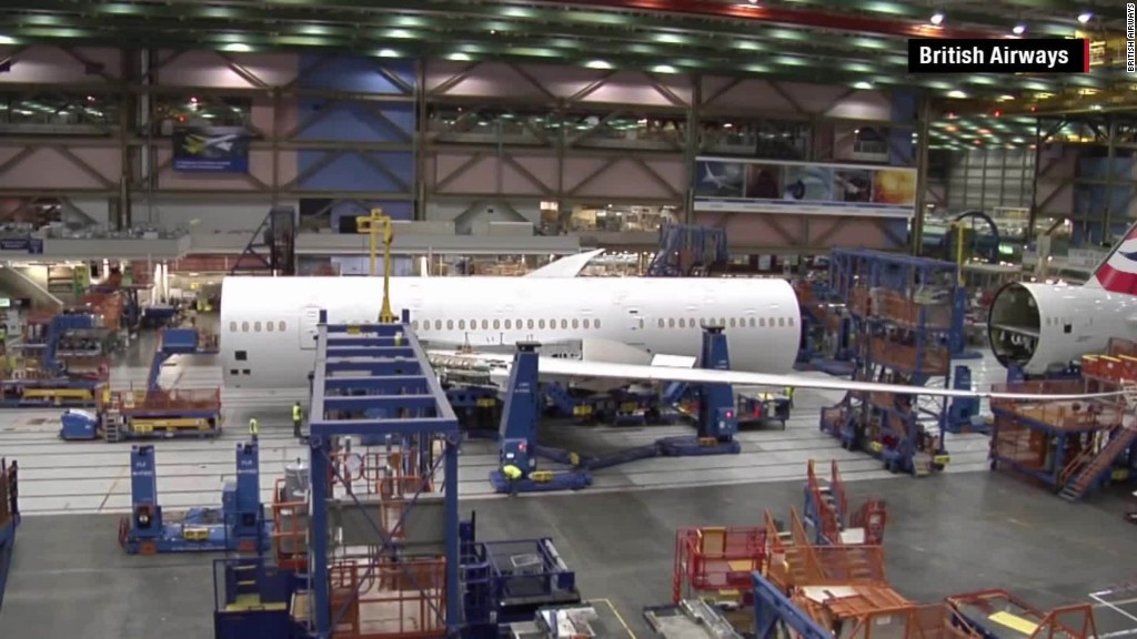 See a Boeing Dreamliner built in under 2 minutes