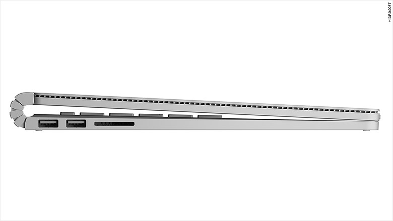 microsoft surface book side view
