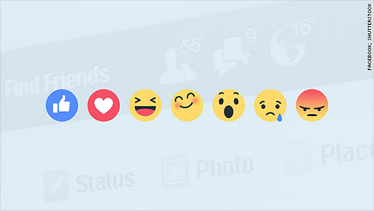 Facebook adds 'Reactions' to Like button feature
