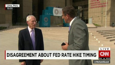 Fed Vice Chairman talks rate hike timing