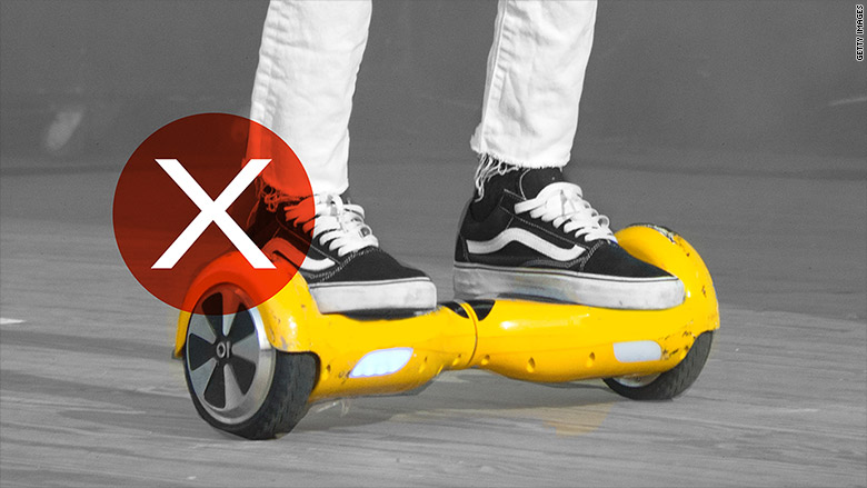 hoverboards banned
