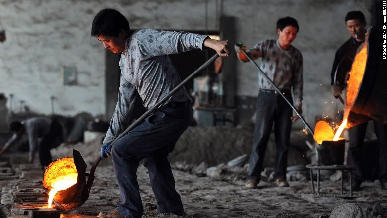 China steel plant