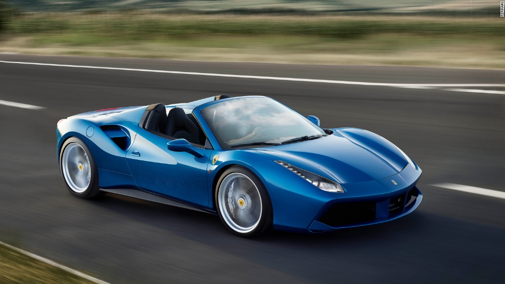 Ferrari shares jump on the first day of trading - Oct. 21, 2015