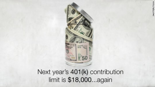 401(k) contribution limits won't be going up next year