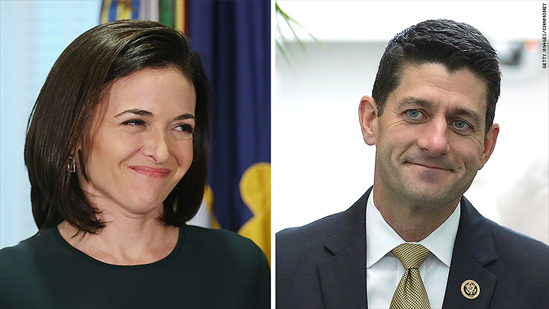 Sheryl Sandberg to meet with Paul Ryan and other top Republicans this week - Jun. 21, 2016