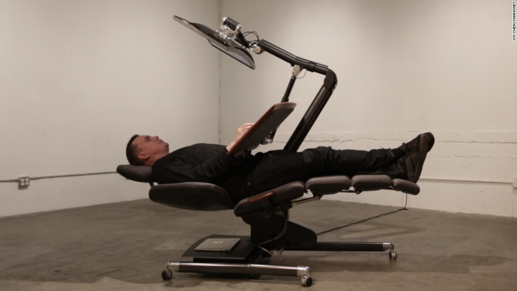 Lie Down At Work In This Crazy New Chair Oct 28 2015