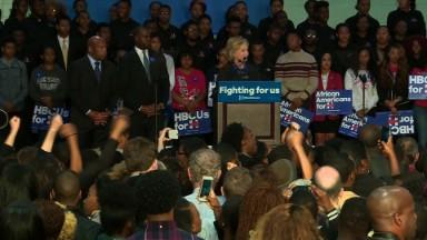 Clinton's press corps on historic campaign