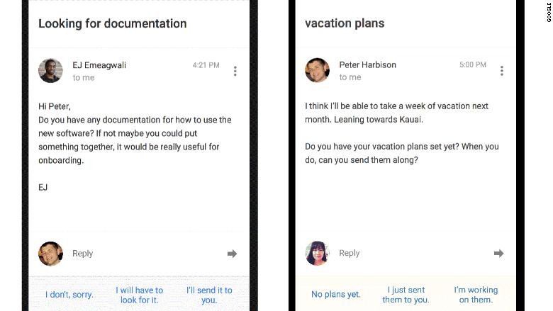 gmail inbox smart reply