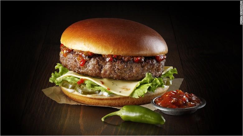 mcdonalds premium burger