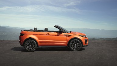 Range Rover's Evoque SUV goes topless