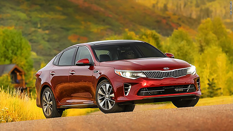 mid size car kia optima kelley blue book best cars for the money cnnmoney. Black Bedroom Furniture Sets. Home Design Ideas