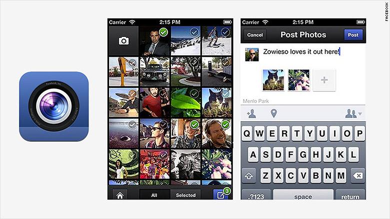 facebook app camera