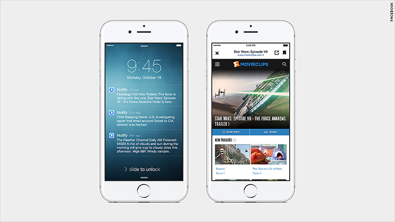 Facebook launches news app 'Notify'