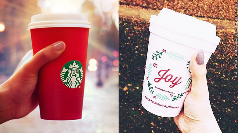 Dunkin' Donuts praised for its 'Joy' holiday cup - Nov. 11, 2015