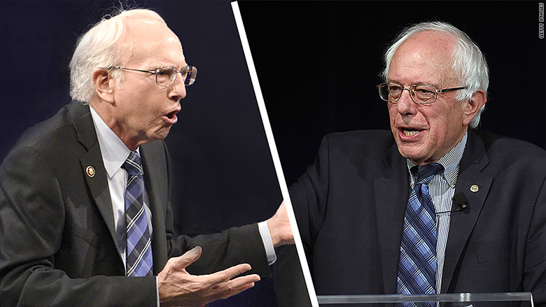 bernie sanders larry david snl