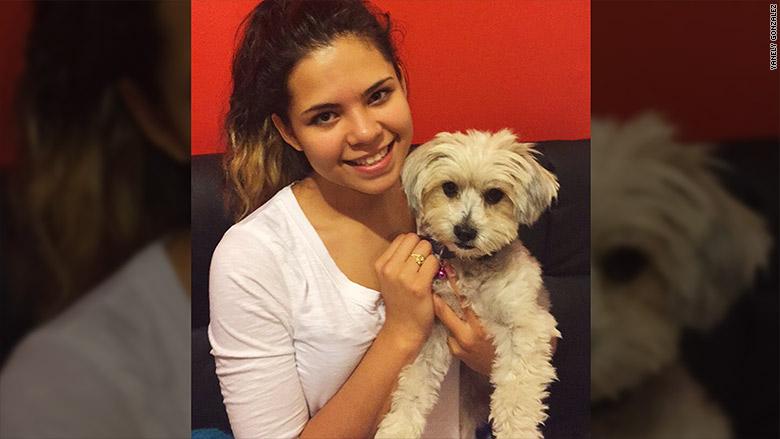 yanely gonzalez with dog