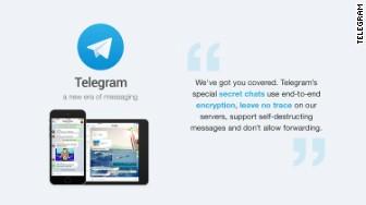 'isis telegram' from the web at 'http://i2.cdn.turner.com/money/dam/assets/151117110245-isis-telegram-336x188.jpg'