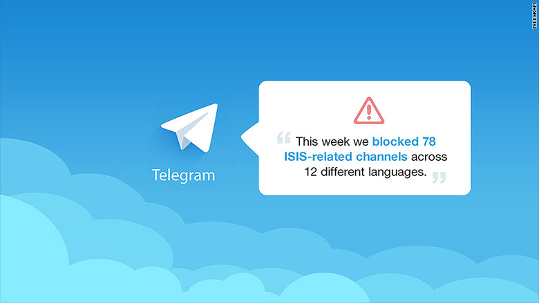 Telegram messaging app shuts down 78 isis channels nov 18 2015 ccuart Choice Image