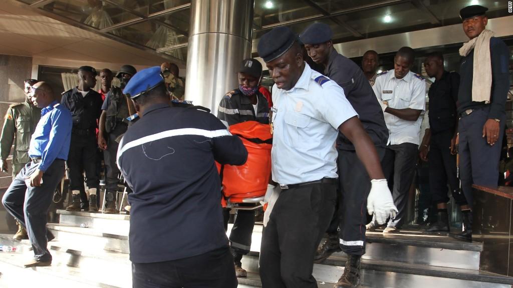 At least 21 killed in Mali hotel terror siege