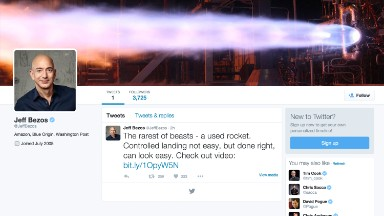 Jeff Bezos saved his first tweet for a special occasion