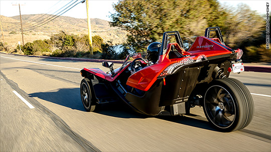 Slingshot is a three-wheeled thrill ride