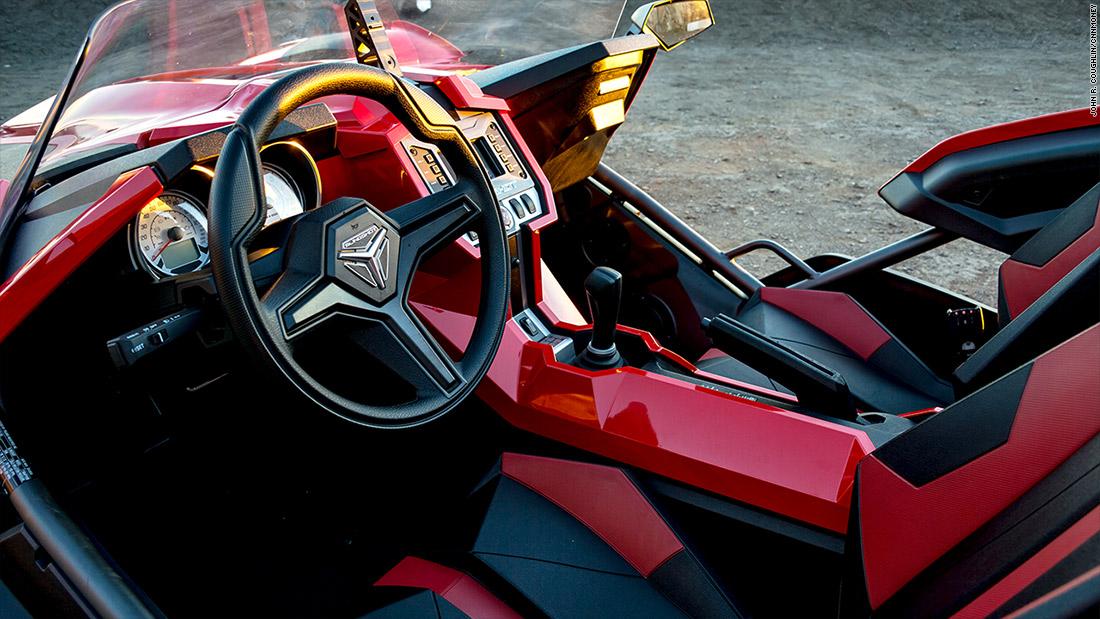 polaris slingshot lean slingshot is a three wheeled thrill ride cnnmoney. Black Bedroom Furniture Sets. Home Design Ideas