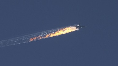 Turkey shoots down Russian military jet